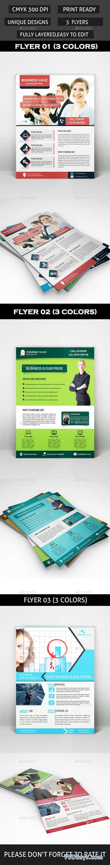 Corporate Flyers Bundle 3 in 1 9071055