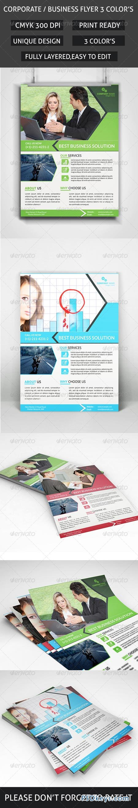 Business Flyer 3 Colors 8756576