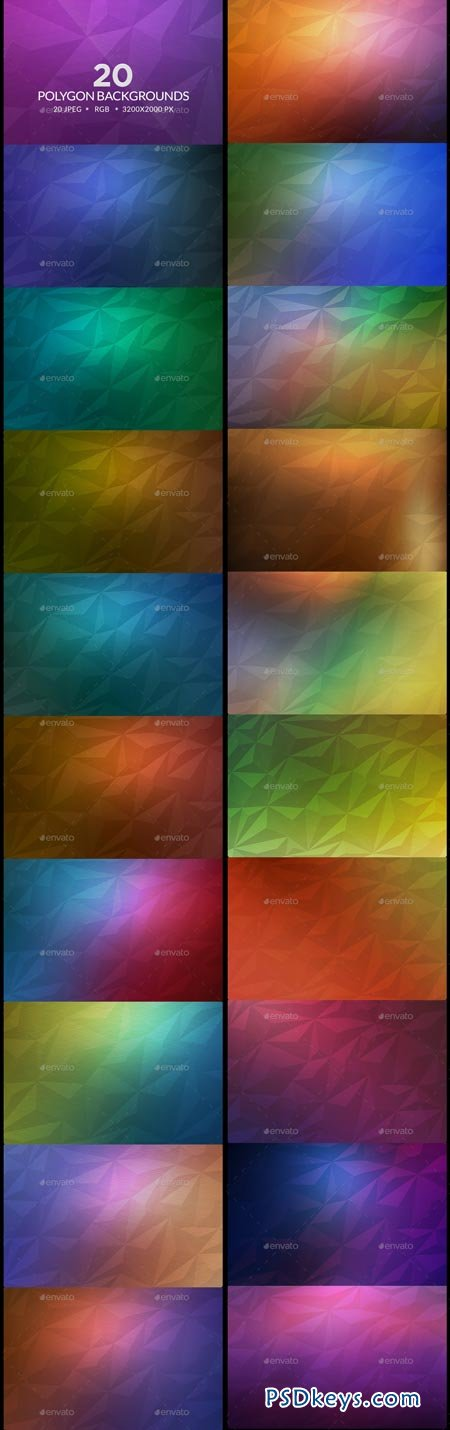 20 Polygon Backgrounds 9093795