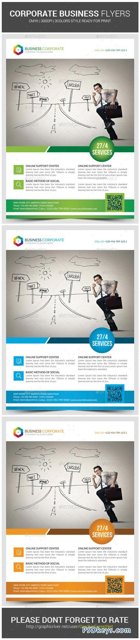 Corporate Business Flyer Template 9105768