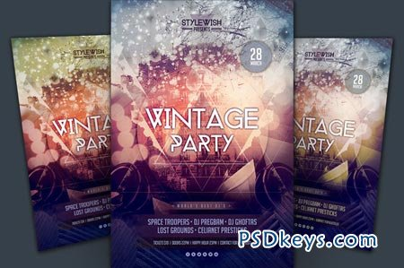 Vintage Party Flyer 22991