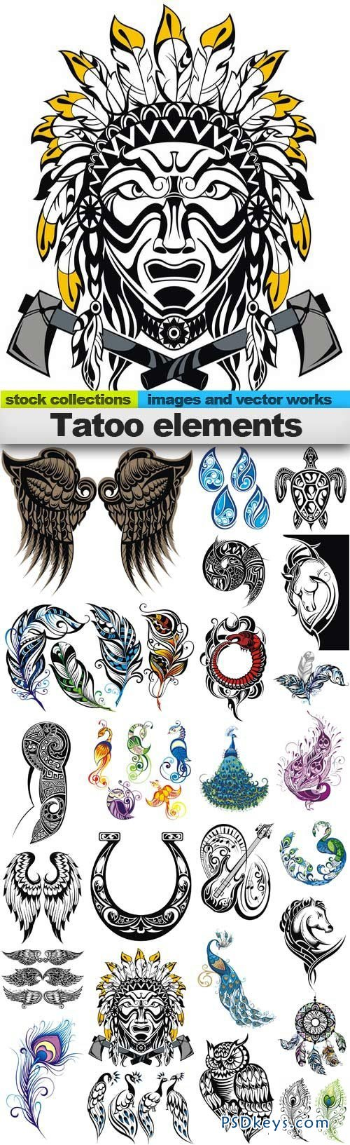 Tatoo elements 25xEPS