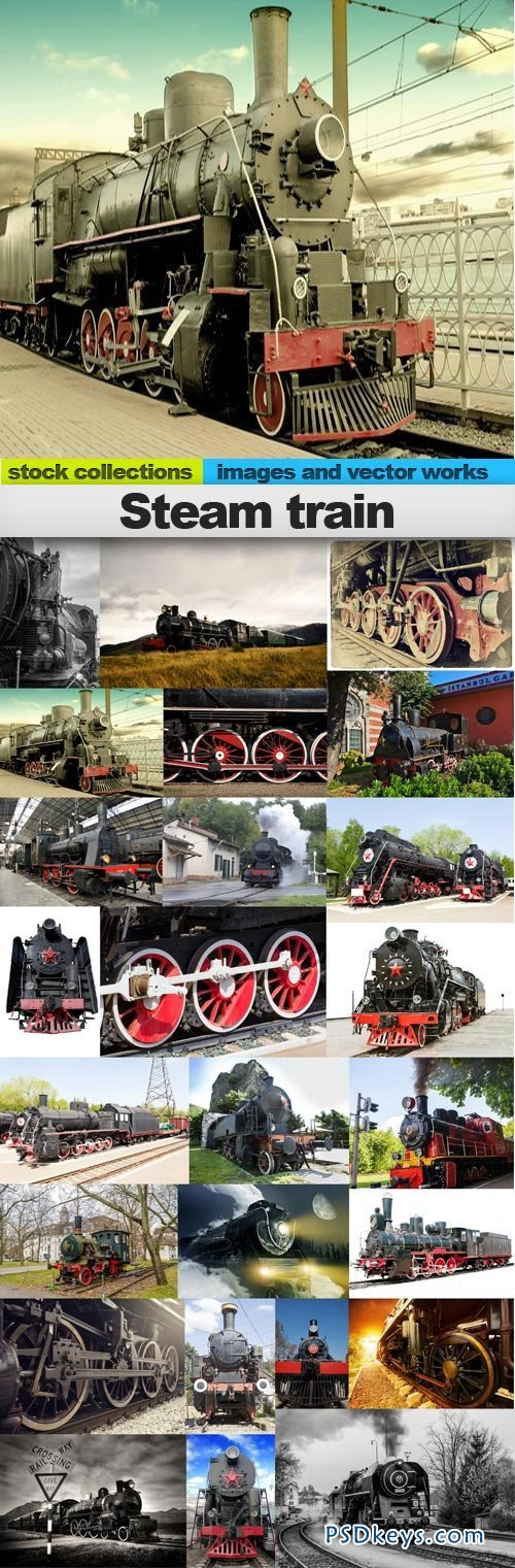 Steam train 25xUHQ JPEG