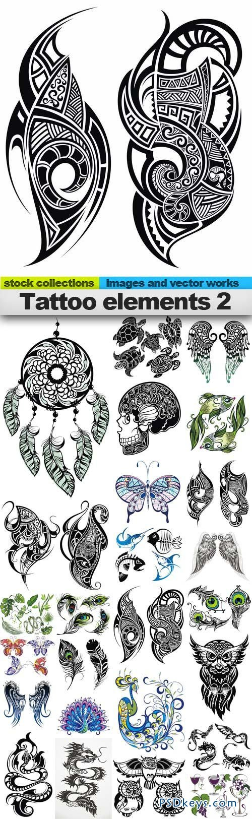Tattoo elements 2 25xEPS