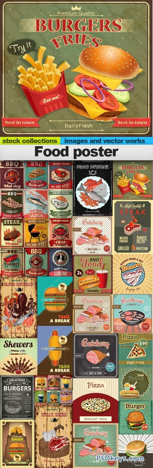 Food poster 25xEPS