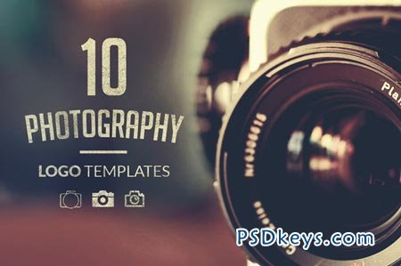 10 photography logo templates 12061