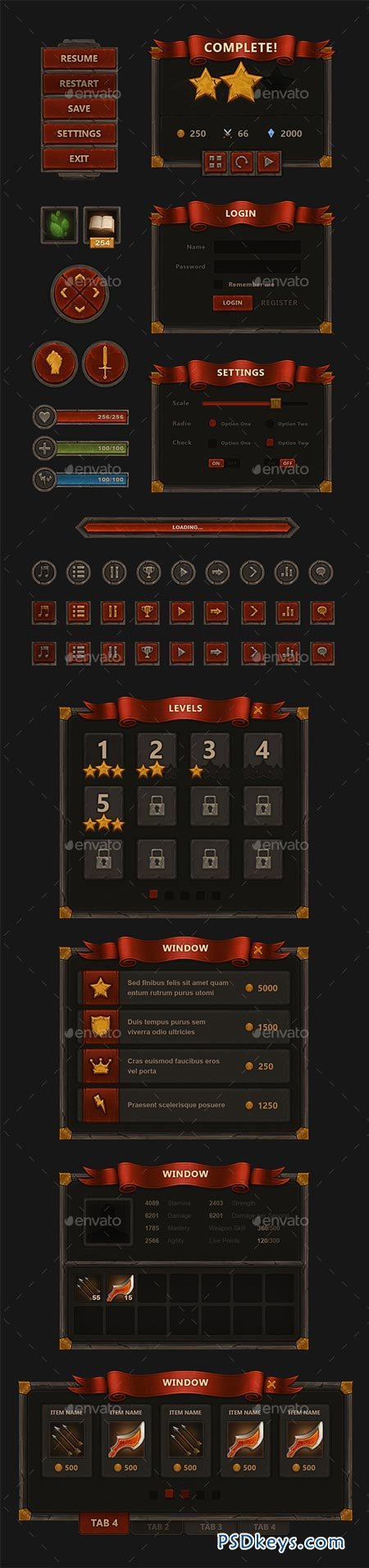 Fantasy Mobile Game Interface 9009432