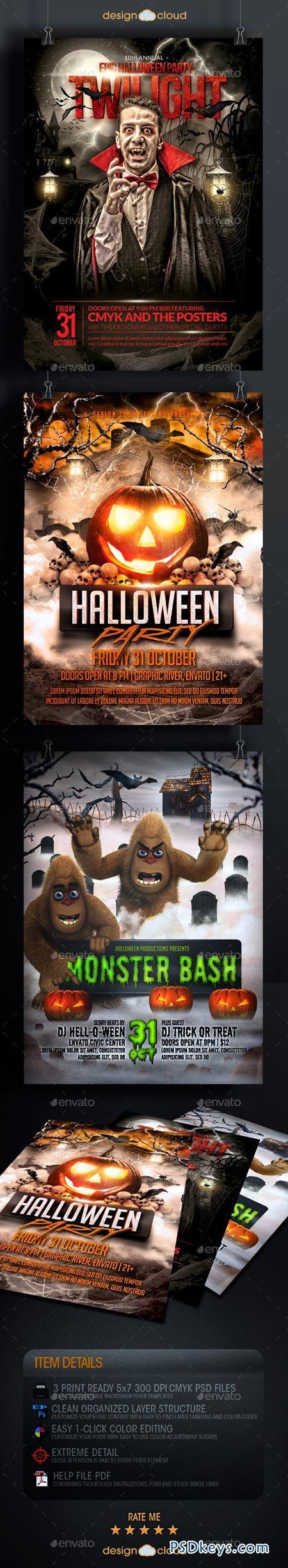 Halloween Flyer Template Bundle 8985005