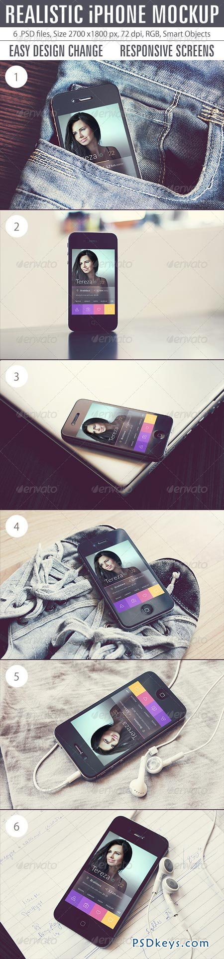 Realistic iPhone Mockup 8368904