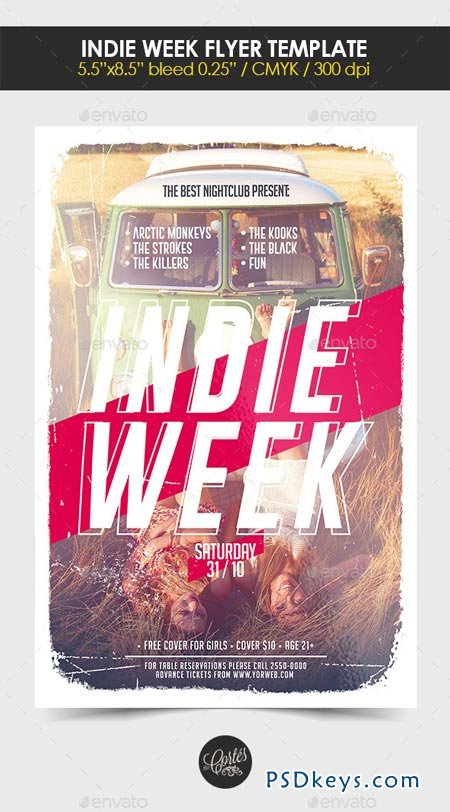 Indie Week Flyer Template 8985186