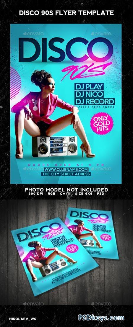 Disco 90s Flyer 8988654
