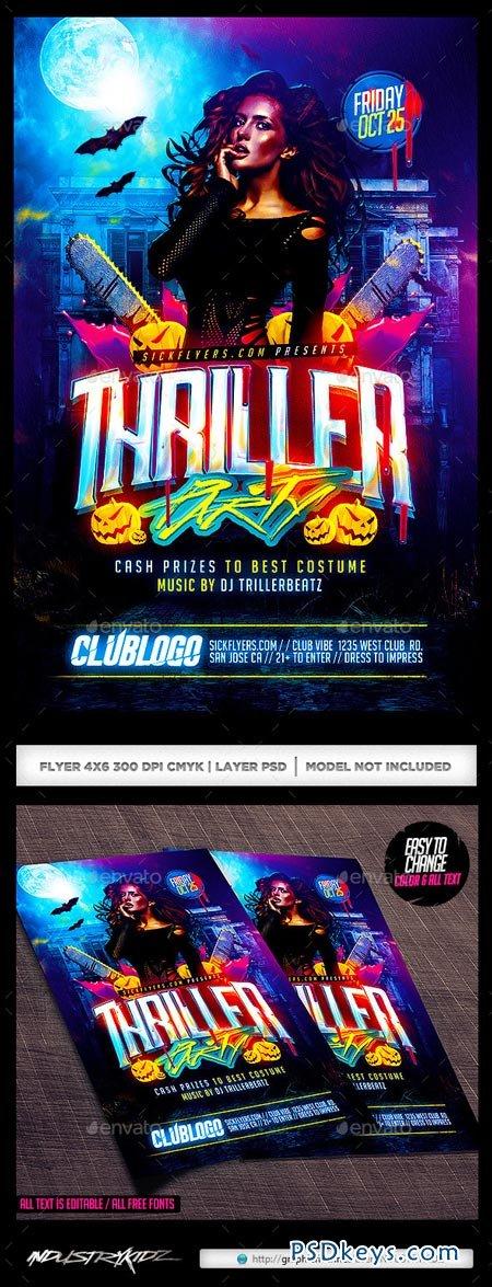 thriller halloween party flyer 8978270 - Halloween Party Music Torrent