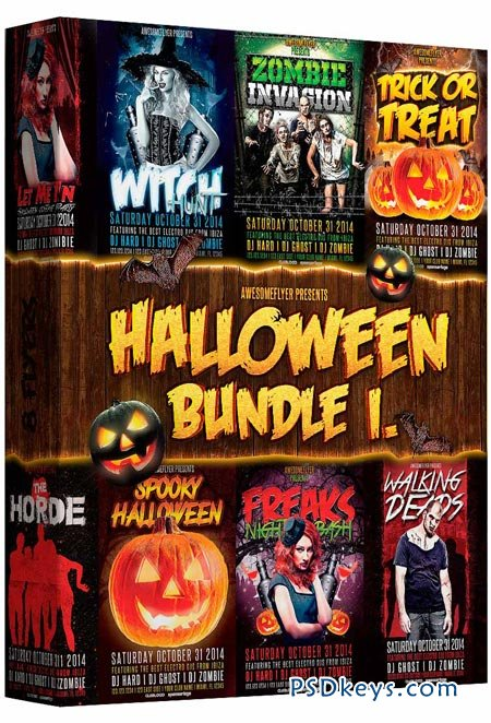 Halloween Party Flyer Bundle Vol.1 » Free Download Photoshop ...