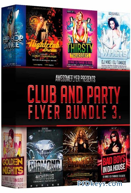 GraphicRiver Cool Premium Party Flyers Bundle VOL1 Template