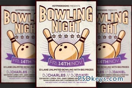Bowling night flyer template 91031 free download photoshop bowling night flyer template 91031 pronofoot35fo Images