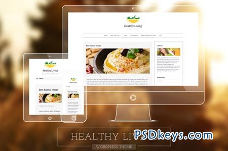 Healthy Living-Fresh Blogging Theme 51319