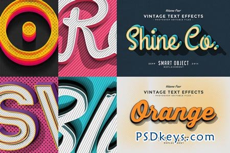 Vintage Text Effects Vol.4 73564