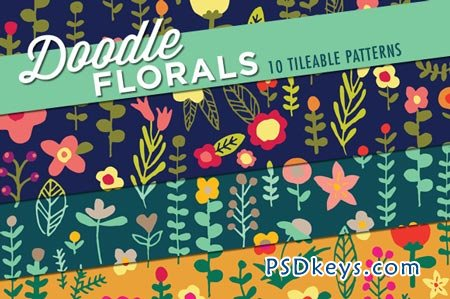 Floral Doodles Patterns 72488