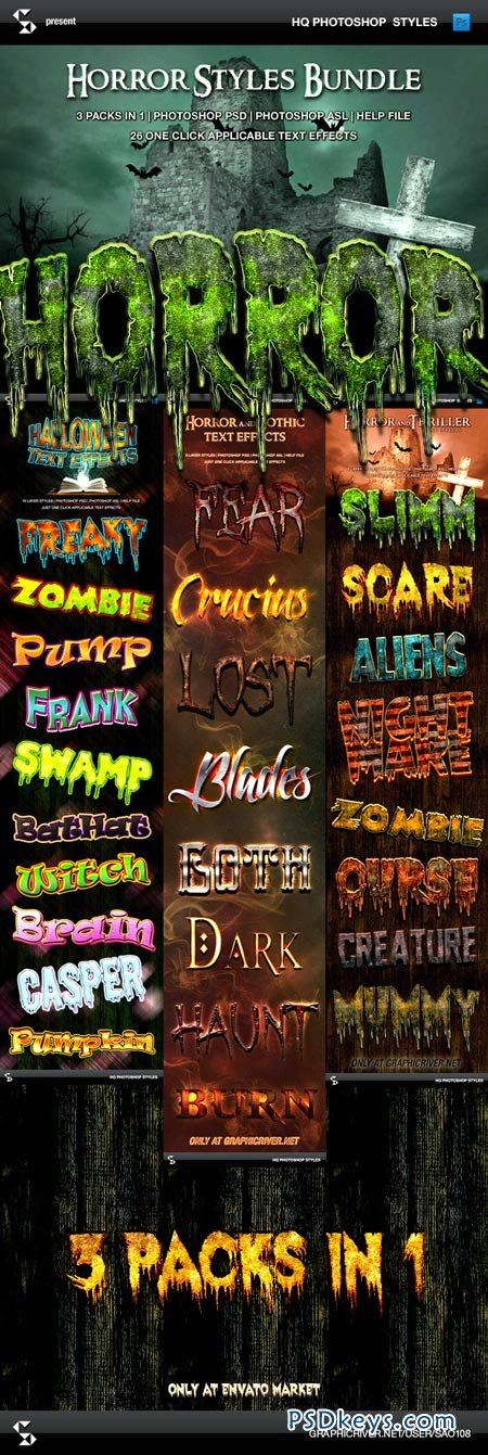 Horror and Halloween Styles Bundle 9140485