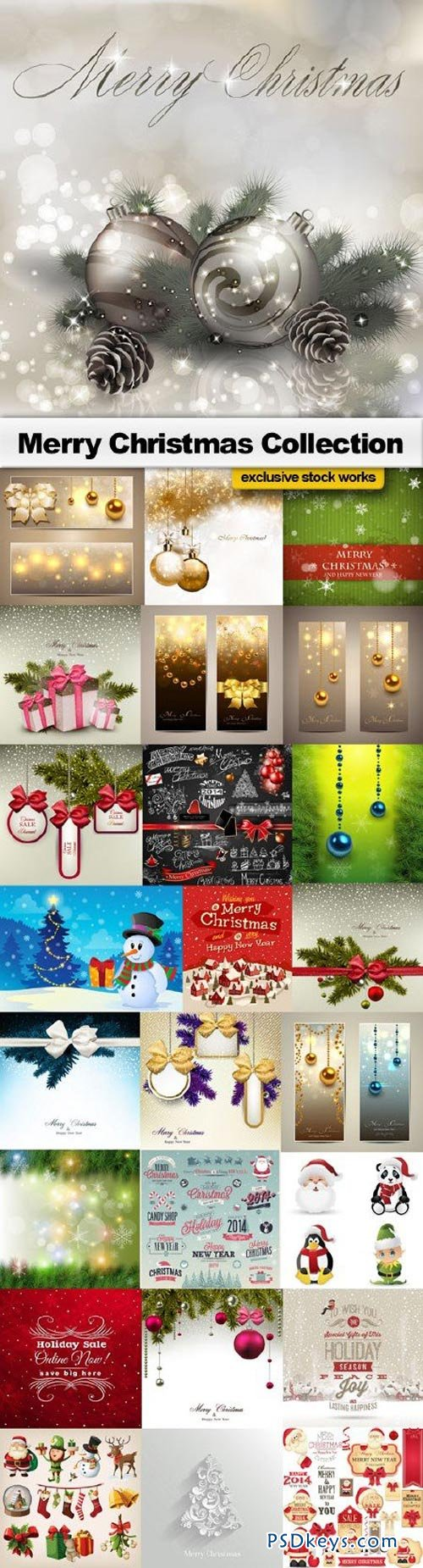 Merry Christmas Collection - 25xEPS