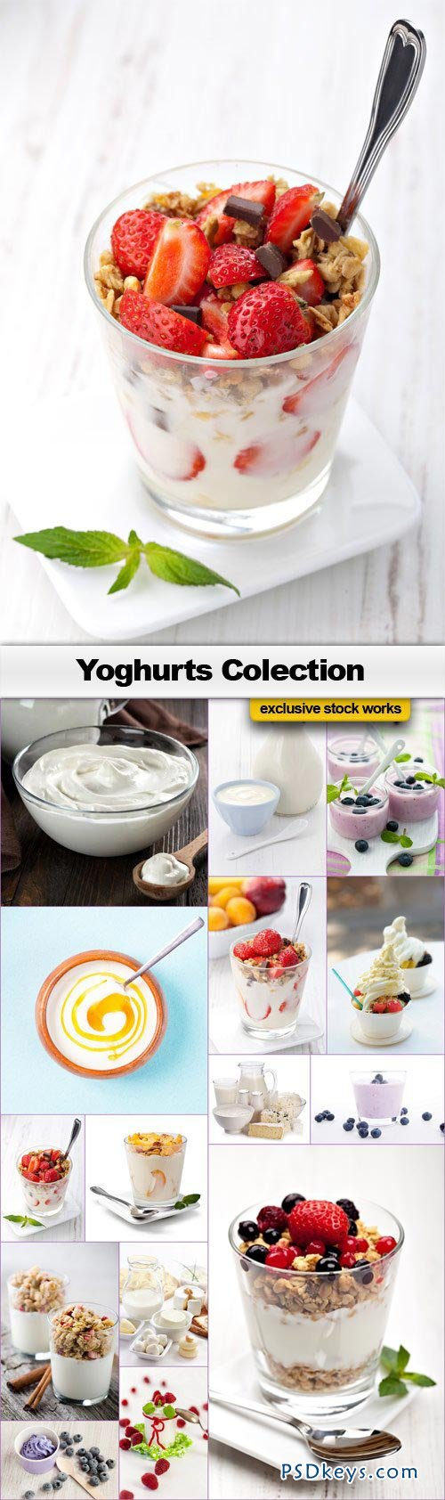 Yoghurts Collection - 15xJPEGs