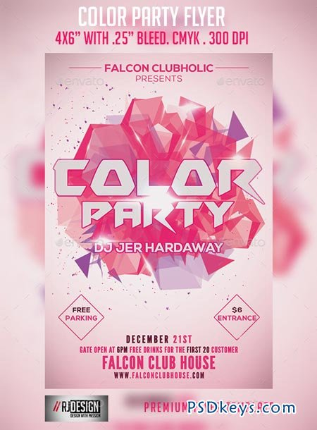 Color Party Flyer 9161213