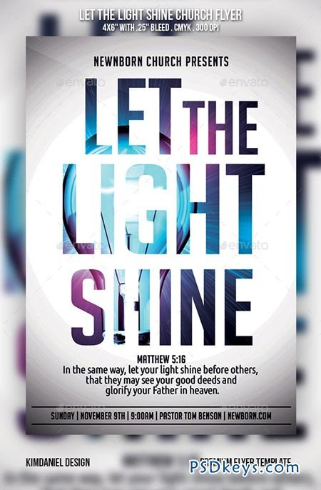 Let the light shine church flyer 9160053 free download for Free church flyer templates photoshop