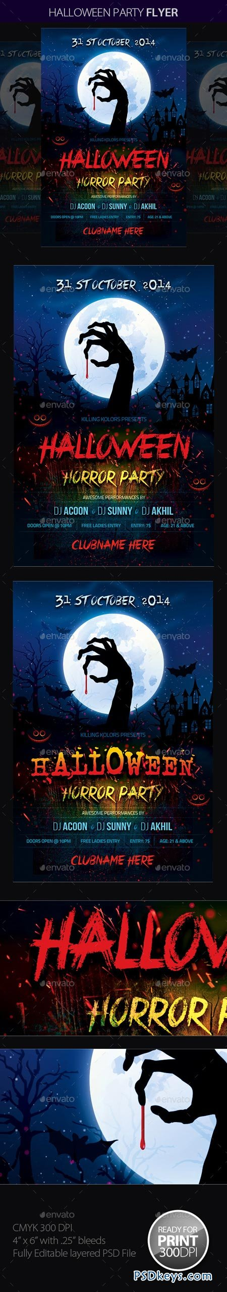 Halloween Party 8956697 » Free Download Photoshop Vector Stock ...