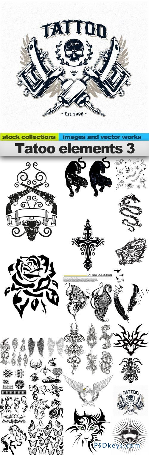 Tattoo elements 3 25xEPS