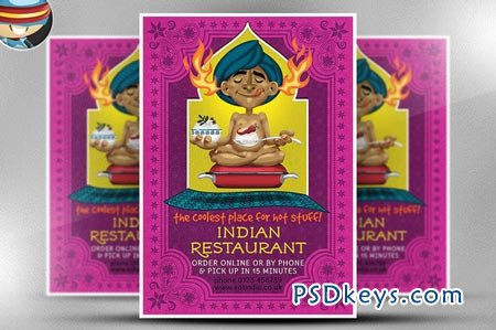 Indian Restaurant Flyer Template 68327 Free Download Photoshop
