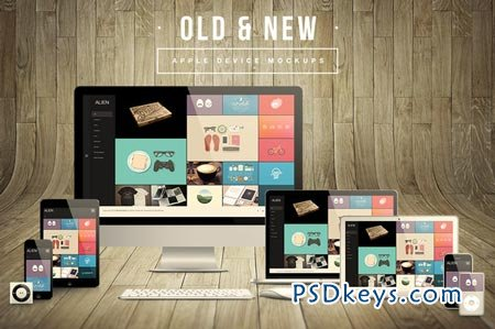 Old & New Apple Device Mockups 77980