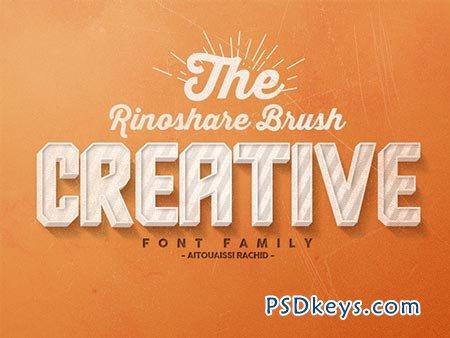 Rinoshare font family 15$ REG.40$ 85754