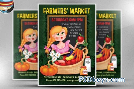 Farmer's Market Flyer Template 66981