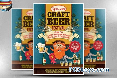 Craft Beer Flyer Template 66978