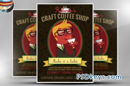 Craft Coffee Flyer Template 66980
