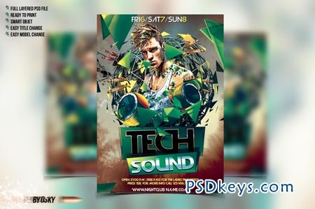 Tech Sound Flyer 66665