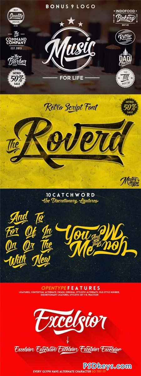 Roverd Font Family - 2 Fonts for $29