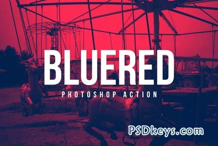 BlueRed Effect Photoshop Action 16917