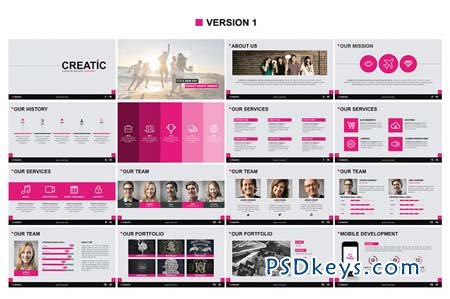 creatic - powerpoint template 94090 » free download photoshop, Presentation templates