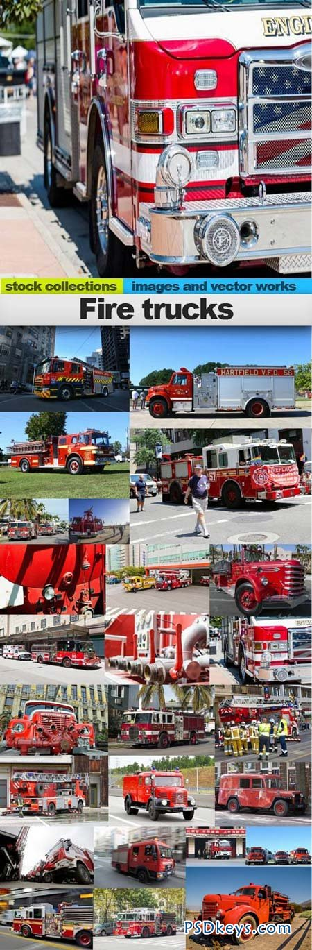 Fire trucks 25xUHQ JPEG