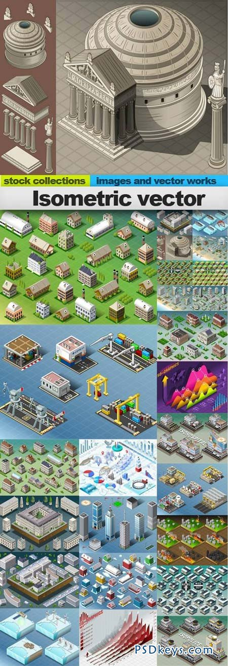 Isometric vector 25xEPS