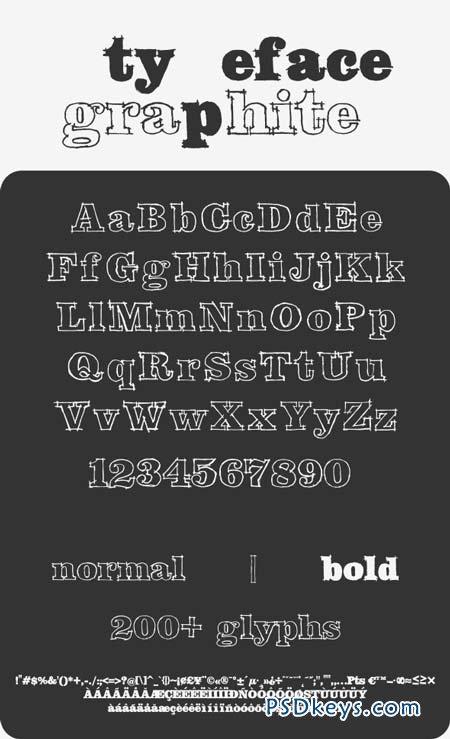 Graphite Typeface 8762893
