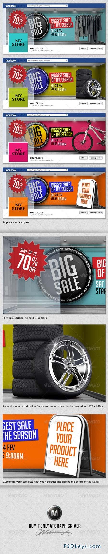 4 3D Sales Templates for Facebook Timeline 3925972
