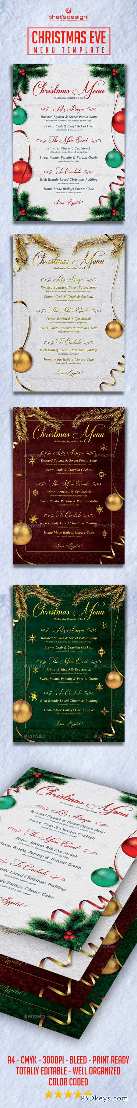 Christmas Eve Menu Template 9207575