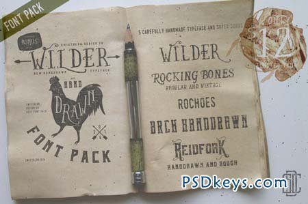 Wilder and Handdrawn Font Pack 82400