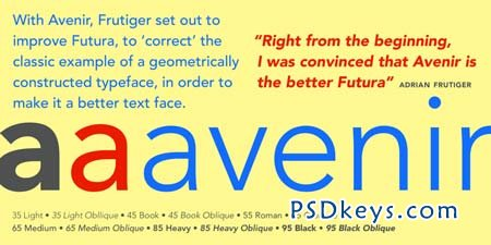 Avenir Font Family - 12 Fonts for $278 » Free Download Photoshop