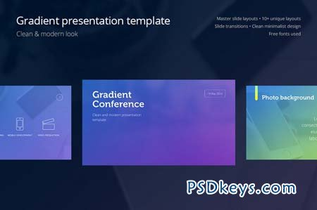 gradient presentation template » free download photoshop vector, Presentation templates