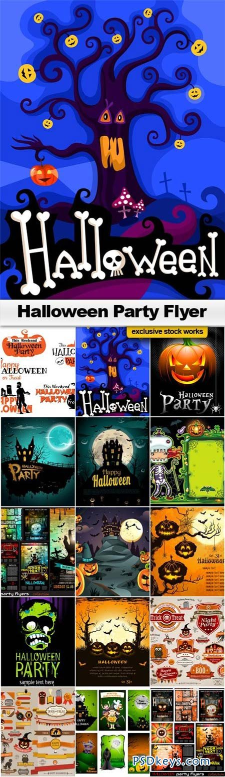 Halloween Party Flyer - 15xEPS » Free Download Photoshop Vector ...