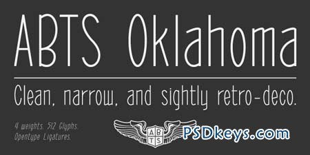 ABTS Oklahoma Font Family - 4 Fonts for $72