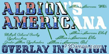 Albion's Americana Font Family - 6 Fonts for $48